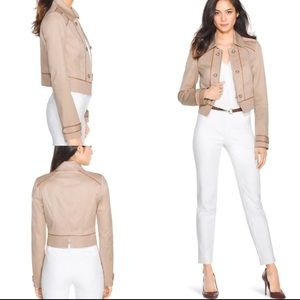 White House Black Market Cropped Jacket